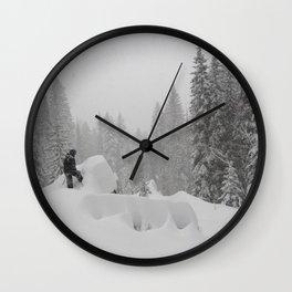 Backcountry Snow Heaven Wall Clock