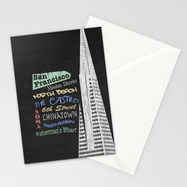 San Francisco Tourism Poster Stationery Cards
