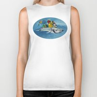 the whale Biker Tanks featuring whale by Кaterina Кalinich