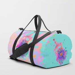 Colorful Watercolor Flower Duffle Bag
