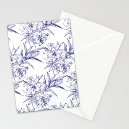 Lilium Speciosum (white) Stationery Cards
