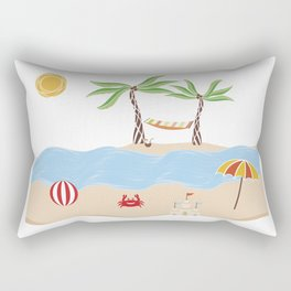 Summer Beach Fun Rectangular Pillow