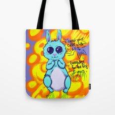 Evil Little Bunny Tote Bag