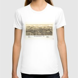 Aerial View of Springfield, Vermont (1886) T-shirt