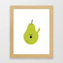 Vulgar Fruit: Profane Pear Framed Art Print