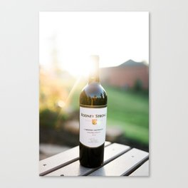 Wine and the Sunset Canvas Print