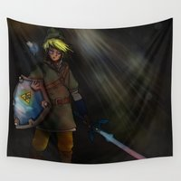 hyrule Wall Tapestries featuring Hero of Hyrule by Brandon Draws