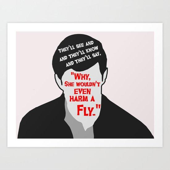 Psycho - Norman Bates Art Print