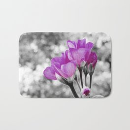 Fuchsia fLOWERS Pop Of Color Bath Mat