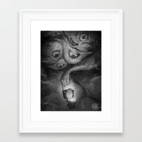 murakami Framed Art Prints featuring What Are You Afraid Of? by Reiko Murakami by Shop of Love and Fear