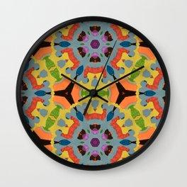 Mandala of stickers Wall Clock