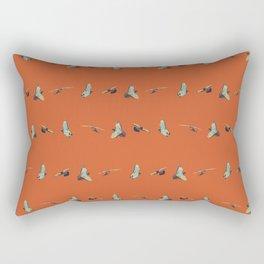 Flying Birds Upon Sunset Rectangular Pillow