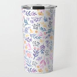 Violet Floral Travel Mug