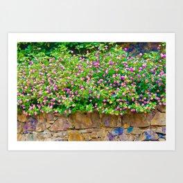 Happy garden Art Print