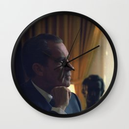 Nixon Seated in the Oval Office Wall Clock