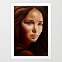 jennifer lawrence Art Prints featuring Jennifer Lawrence by The Art of Vancuf