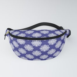 Floral Doily Pattern | Lace Crochet Doilies | Needle Crafts | Blue and White | Fanny Pack