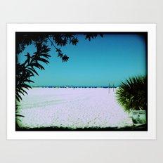 Tropical Beach Scene Photography Art Print