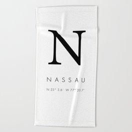 25North Nassau Beach Towel