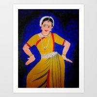 dancer Art Prints featuring Dancer by Priyanka Rastogi