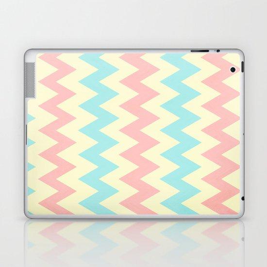 Summer Pink & Blue Chevron Laptop & iPad Skin