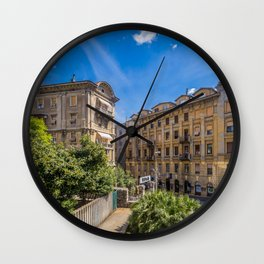 Croatia Rijeka Street Cities Building Houses Wall Clock