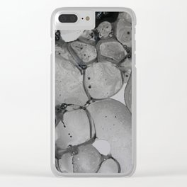 Black Suds II Clear iPhone Case