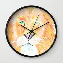 Golden King of the Jungle Wall Clock