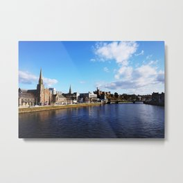 On The Bridge - Inverness - Scotland Metal Print