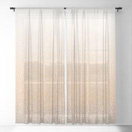 Gradient orange and white swirls doodles Sheer Curtain