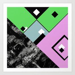 Conformity - Abstract, Textured, Geometric, Pop Art Art Print