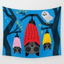 Bats in Blankets Wall Tapestry