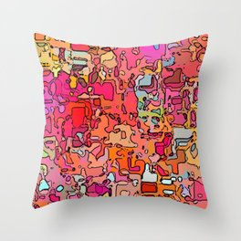 Abstract segmented 6 Throw Pillow