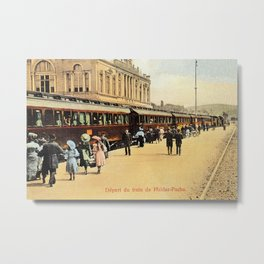 1900s Haydarpasa railroad station, train Metal Print