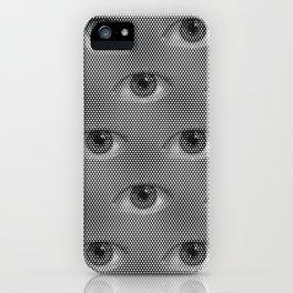 Pop-Art Black And White Eyes Pattern iPhone Case