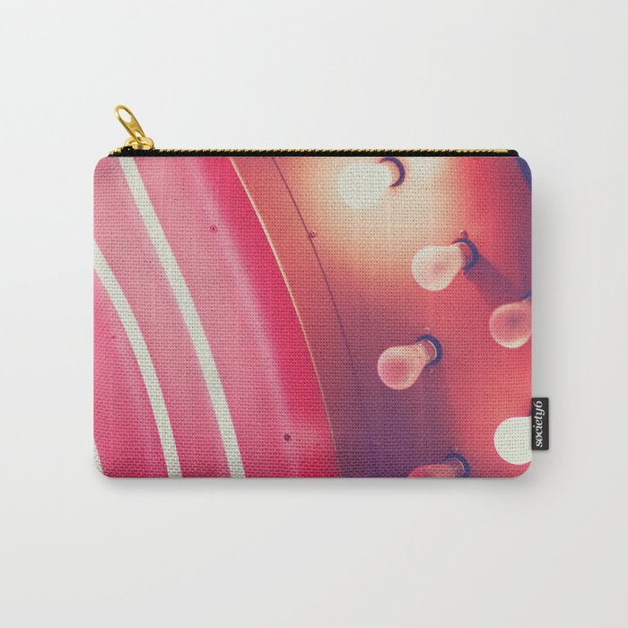 Pink Neon Glow Carry-All Pouch