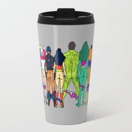 Superhero Butts - Power Couple on Grey Travel Mug
