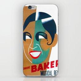Josephine Baker Vintage Poster for Stockholm iPhone Skin