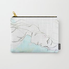 Girl in blue Carry-All Pouch