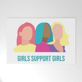 Girls support Girls Welcome Mat