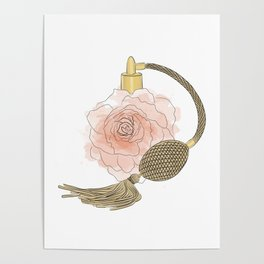 Golden Rose Perfume Poster