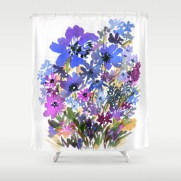 Heavenly Blues and Purples Shower Curtain