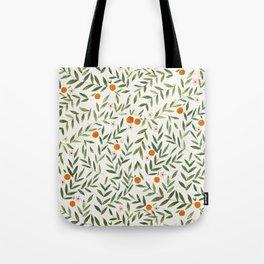 Oranges Foliage Tote Bag