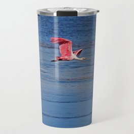 Roseate Spoonbill in Flight IV Travel Mug