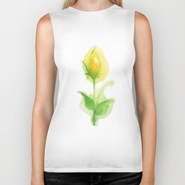 Yellow Flower Biker Tank