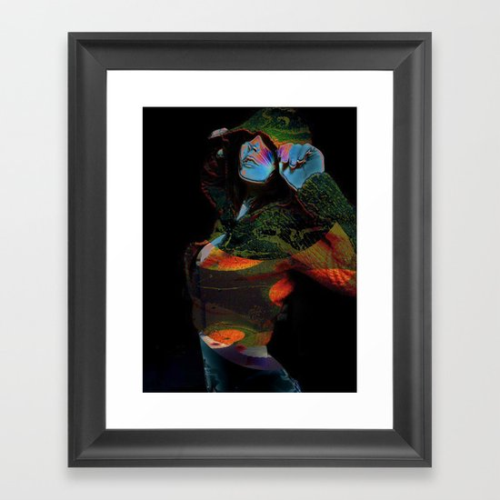 Hooded Woman 2 Framed Art Print