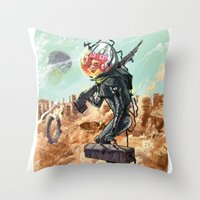 prometheus Throw Pillows featuring Prometheus by Logan  Faerber