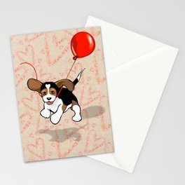 The Love Puppy — Balloon Stationery Cards
