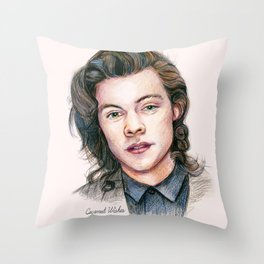 Harry colors Throw Pillow