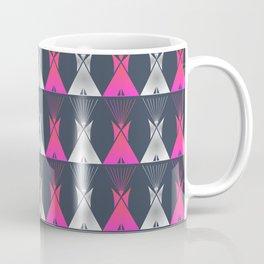 Pink Grey Native American Tipi Coffee Mug